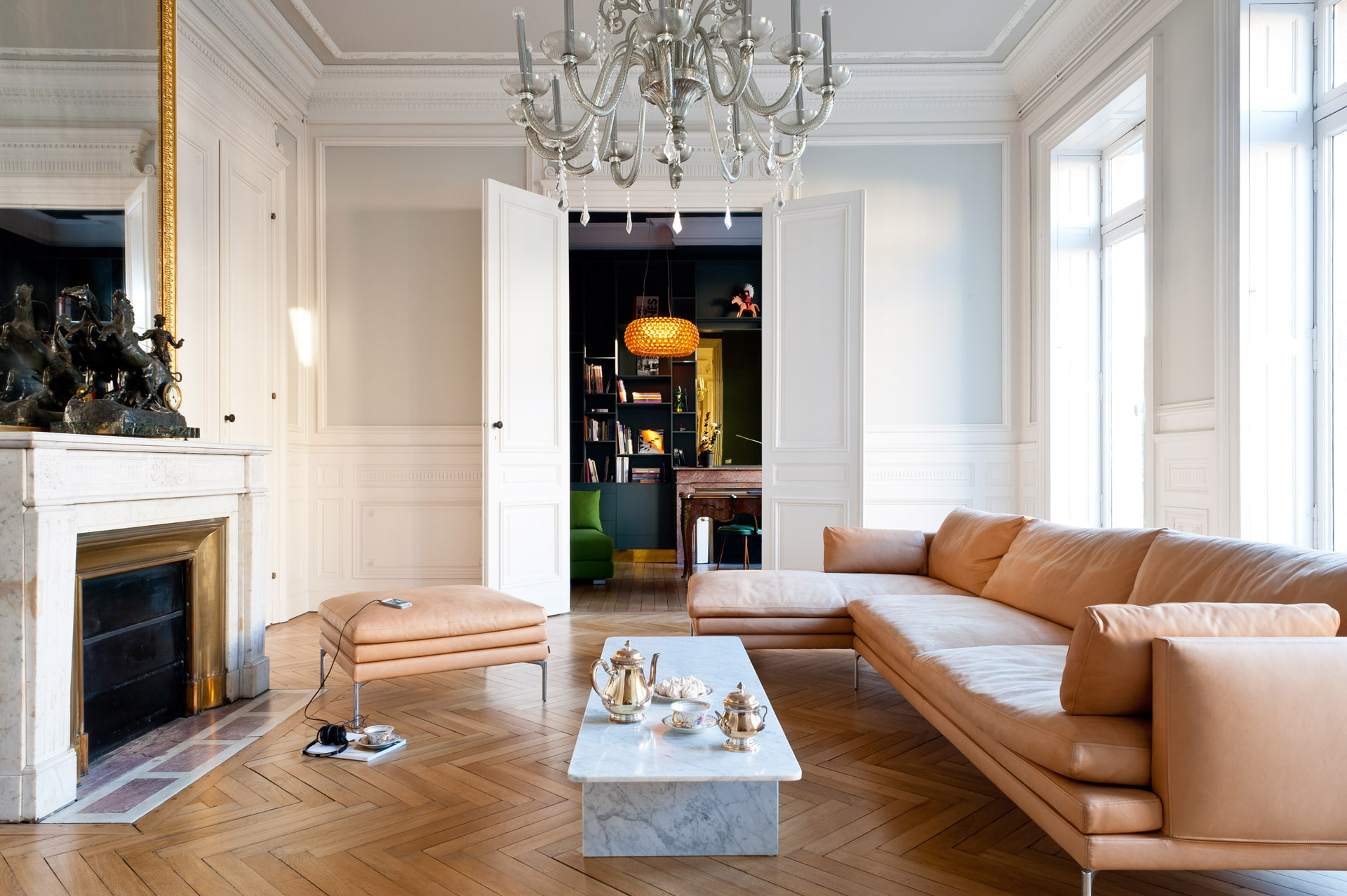 Architecture interieure pour un appartement haussmannien bordeaux for Quel eclairage pour un salon